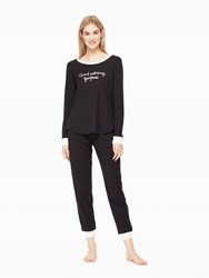 Kate Spade Good Morning Gorgeous Pj Set Black
