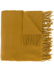 Kenzo Fringed Scarf Nude And Neutrals