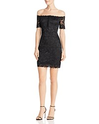 Guess Reina Off The Shoulder Lace Dress Jet Black