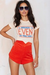 Nasty Gal After Party Vintage Isabella Corduroy Shorts