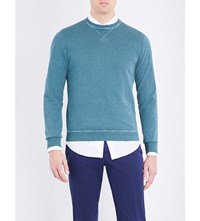 Slowear Washed Cotton Jumper Green