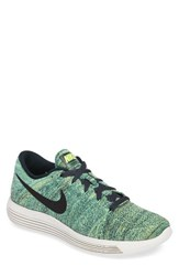 Nike Men's 'Lunarepic Low Flyknit' Running Shoe Seaweed Green White Black