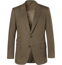 Kingsman Eggsy's Olive Stretch Cotton Twill Suit Jacket Army Green