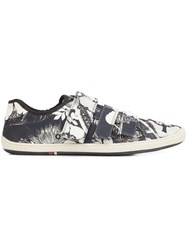 Osklen 'Flower Shop' Sneakers Men Leather Latex Canvas 10 Black