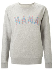 Selfish Mother Mama Crew Neck Sweatshirt Grey Neon And Pale Blue Floral
