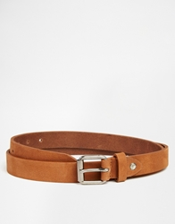 Selected Clarence Suede Belt Brown