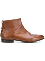 Moma Western Ankle Boots Brown