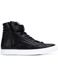 Pierre Hardy 'Match' Hi Top Sneakers Black
