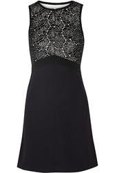 A.L.C. Varney Lace Paneled Crepe Dress