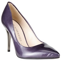 Peter Kaiser Nuria Patent Leather Pointed Stiletto Court Shoes Purple