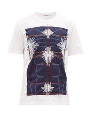 Craig Green Embroidered Panel Cotton T Shirt Navy