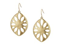 The Sak Large Perforated Drop Earrings Gold Earring