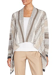 Nic Zoe Swing Cardigan Multi