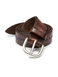 Orciani Studded Leather Belt Brown