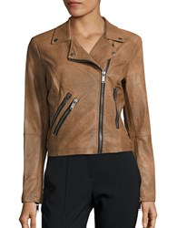 Design Lab Lord And Taylor Long Sleeve Moto Jacket Cider