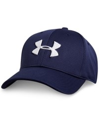 Under Armour Men's Blitzing Ii Stretch Fit Heatgear Hat Midnight White
