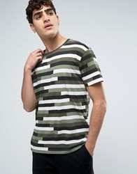Dr. Denim Dr Russ T Shirt Camo Stripe Green