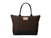 Will Leather Goods Getaway Tote All Leather Brown Black Luggage