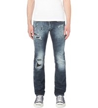 Replay Regular Fit Tapered Jeans Blue