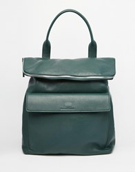 Whistles Leather Verity Backpack In Forest Green Darkgreen