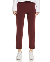Dylan Gray Cropped Slim Straight Leg Pants 100 Exclusive Burgundy