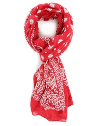 Denim And Supply Ralph Lauren Red Bandana Print Scarf