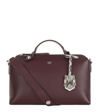 Fendi Small By The Way Boston Bag Female Bordeaux
