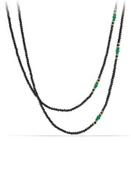 David Yurman Osetra Tweejoux Necklace Black Green Onyx