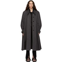 Christophe Lemaire Grey Cotton Trench Coat
