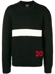 Calvin Klein 205W39nyc Paneled Logo Jumper Black