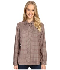 Royal Robbins Performance Flannel Plaid Long Sleeve Laurel Women's Long Sleeve Button Up Green