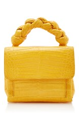 Nancy Gonzalez Knotted Handle Lady Cross Body Yellow