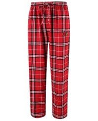 Concepts Sport Men's Louisville Cardinals Huddle Flannel Pants Red