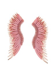 Mignonne Gavigan Long Wings Beaded Earrings Pink And Purple