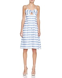 Lovers Friends Lovers And Friends Bow Stripe Cutout Midi Dress Nautical Stripe