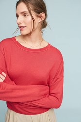 Anthropologie Studio Sweatshirt Red