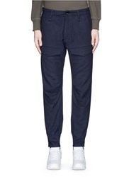 Denham Jeans 'Munich' Knee Patch Twill Pants Blue