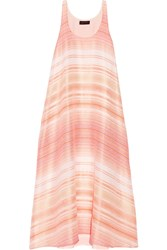 Hatch The Sunset Striped Woven Maxi Dress Peach Blush