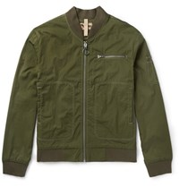 Nigel Cabourn Desert Rats Embroidered Cotton Blend Bomber Jacket Army Green
