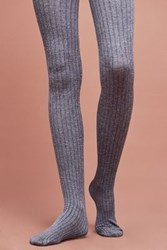 Anthropologie Everyday Ribbed Tights Sky