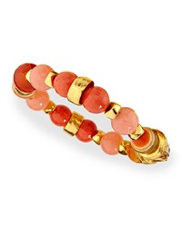 Gold Plated Beaded Shell Bracelet Jose And Maria Barrera Coral