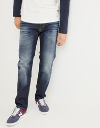 Jack And Jones Jeans In Regular Fit With Stretch Blue Denim