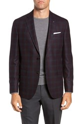 Ted Baker London Konan 2B Trim Fit Wool Sport Coat Plum