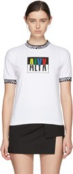 Alyx White Colorblock T Shirt