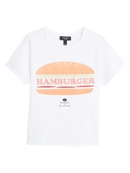 Mango Printed Image T Shirt Natural White