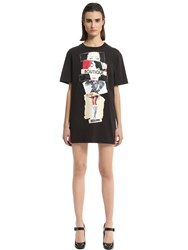 Boutique Moschino Printed Cotton Jersey T Shirt Dress