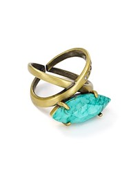 Kendra Scott Rosemary Cocktail Ring Turquoise Gold