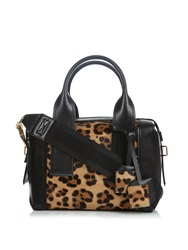 Pierre Hardy Bandit Calf Hair And Leather Tote
