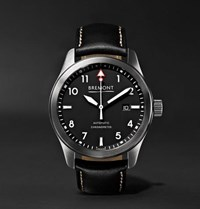Bremont Solo Wh Automatic 43Mm Stainless Steel And Leather Watch Black