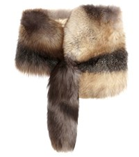 Dolce And Gabbana Fur Stole Brown